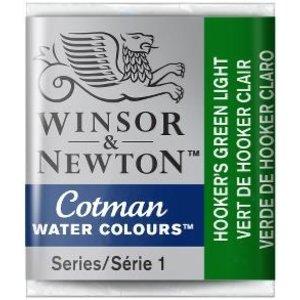 Winsor & Newton W&N Cotman Aquarelverf Half Napje Hookers Green Light