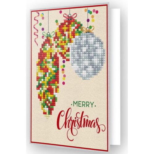 Diamond Dotz Diamond Painting Kaart Merry Christmas