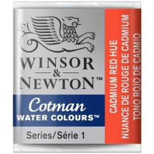 Winsor & Newton W&N Cotman Aquarelverf Half Napje Cadmium Red Hue