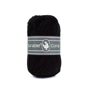 Durable Durable Coral Katoen 50 gram Black 325