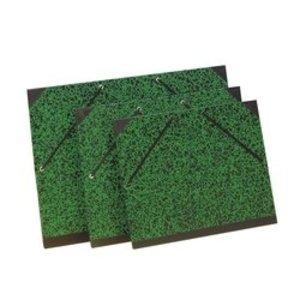 Lefranc Bourgeois Groene tekenmap groen zwart elasto sluiting 26 x 33 cm