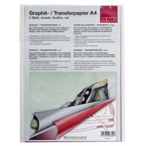 Ami Grafietpapier rood A4 5 vellen