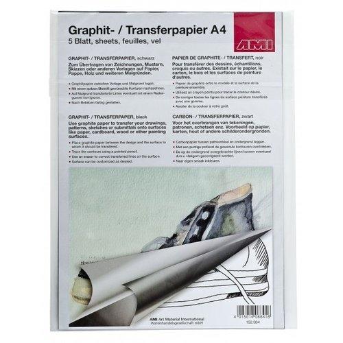 Ami Grafietpapier zwart A4 5 vel