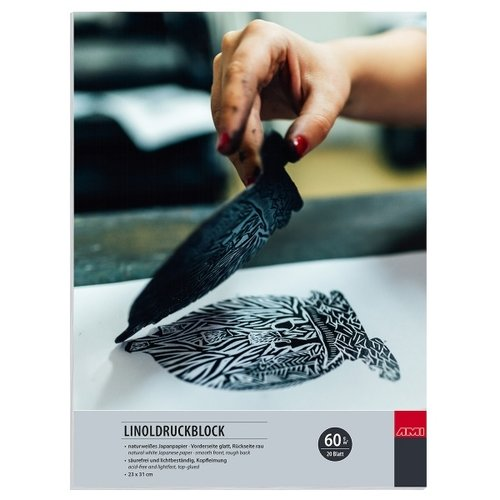 Ami Japan Papier Linodrukblok 23x31cm 60 gram 20 vellen