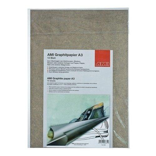 Ami Grafietpapier zwart A3 10 vel