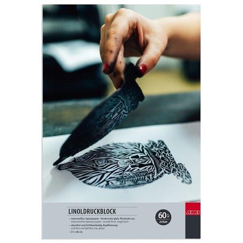 Ami Japan Papier Linodrukblok 31x46cm 60 gram 20 vel