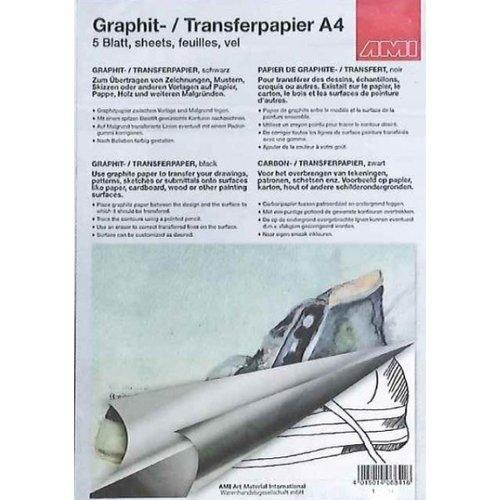 Ami Grafietpapier zwart A2  3 vel