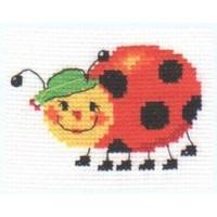 Alisa borduurpakket Lieveheersbeestje 0-45