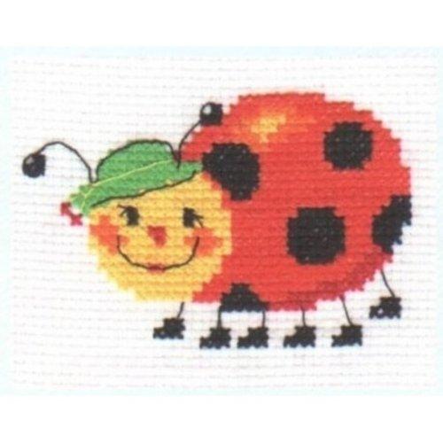 Alisa Alisa borduurpakket Lieveheersbeestje 0-45