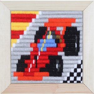 Pako Borduurpakket voor kinderen korte plat steek raceauto 079.734