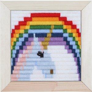 Pako Borduurpakket voor kinderen korte platsteek unicorn 079.732