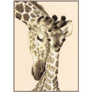 Vervaco Vervaco Kruissteek borduurpakket Giraffenfamilie 0012183