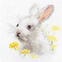 Alisa borduurpakket wit konijntje 226