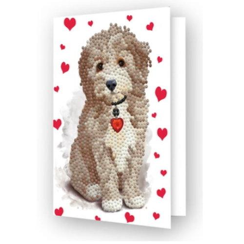Diamond Dotz Diamond Dotz Kaart Lovely Dog