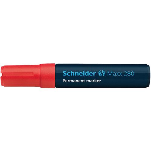 Schneider marker Schneider Maxx 280 permanent beitelpunt rood