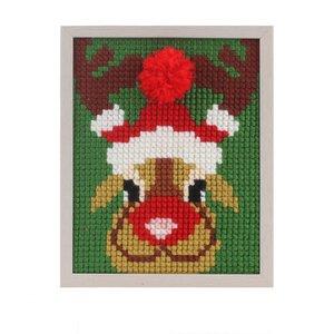 Pako Pako Borduurpakket kerst rendier voor kinderen voorbedrukt  027.060