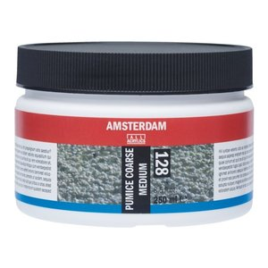 Amsterdam Amsterdam Puimsteem Medium Grof 250 ml voor acrylverf 128