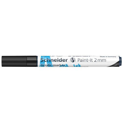 Schneider Acrylverf Stift Schneider Paint-it 310 Zwart