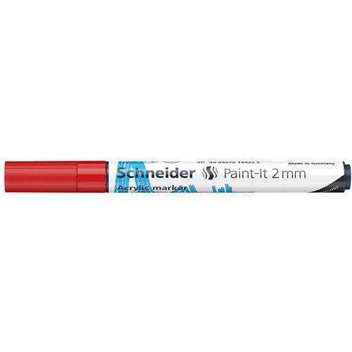 Schneider Acrylverf Stift Schneider Paint-it 310 Rood
