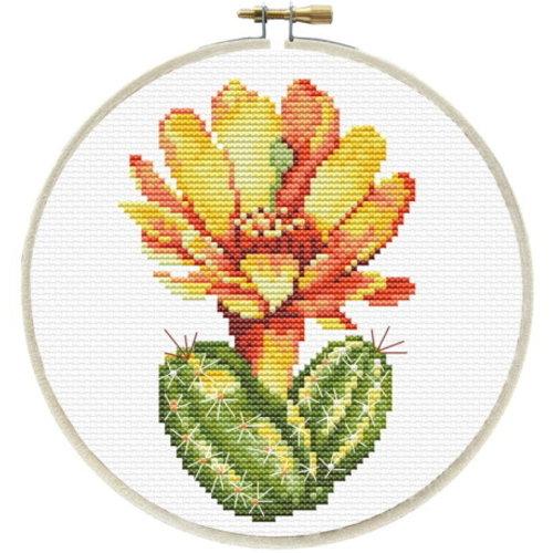 Needleart Needleart Voorbedrukt Borduurpakket Gele Cactus 240-061