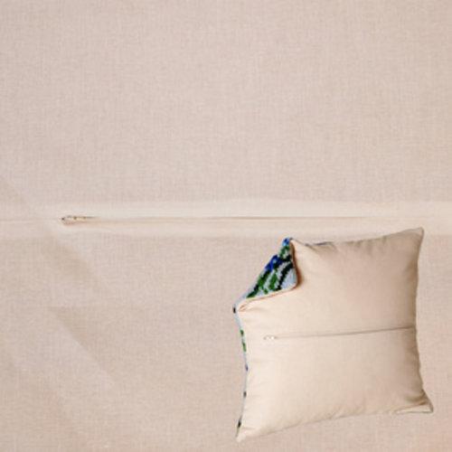 Kussenrug met rits 45 x 45 cm Ivoor