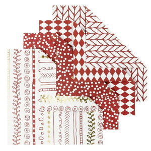 Origamipapier 10 x10 cm 80 gram 40 vellen Rood Wit