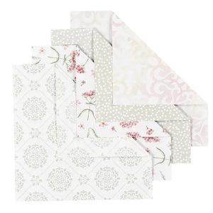 Creotime Origamipapier 15 x 15 cm 80 gram 40 vel Grijs, Groen, Rood, White