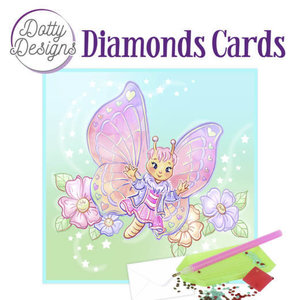 Dotty Designs   Dotty Design Diamond Painting Kaart Vlinder