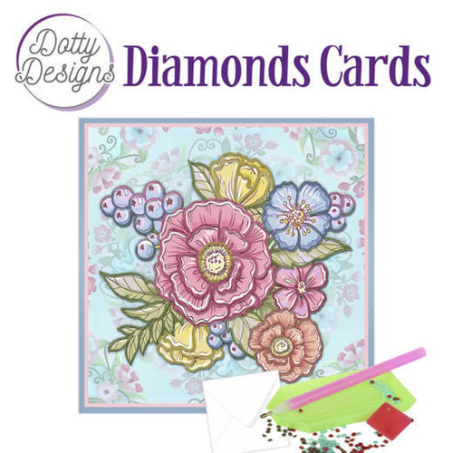 Dotty Designs   Dotty Design Diamond Painting Kaart Bloemen