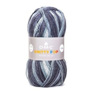 DMC DMC Knitty Pop 50 gram nr 476 Grijs Blauw