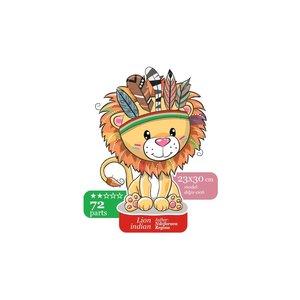Wizardi Wizardi Houten Puzzel Little Indian Lion