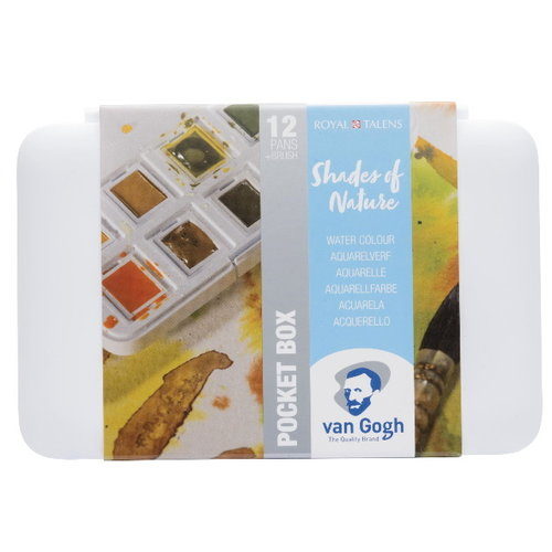 van Gogh Van Gogh Aquarelverf Pocketbox 12 Napjes Natuurtinten