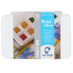 van Gogh Van Gogh Aquarelverf Pocketbox 12 Napjes Gedempte Kleuren