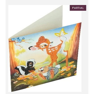 Crystal Art Crystal Art Diamond Painting Kaart Bambi en vriendjes