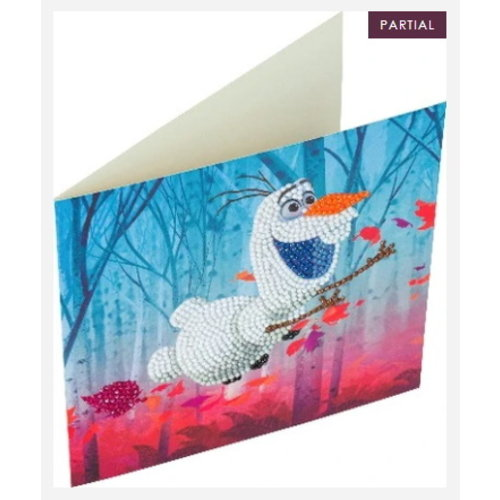 Crystal Art Crystal Art Diamond Painting Kaart Frozen Olaf
