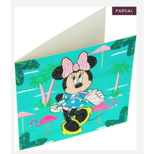 Crystal Art Crystal Art Diamond Painting Kaart Mini Mouse op Vakantie