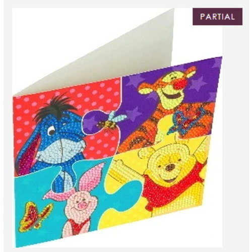 Crystal Art Crystal Art Diamond Painting Kaart Winnie de Pooh en Vriendjes