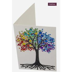 Crystal Art Crystal Art Diamond Painting Kaart Rainbow Tree