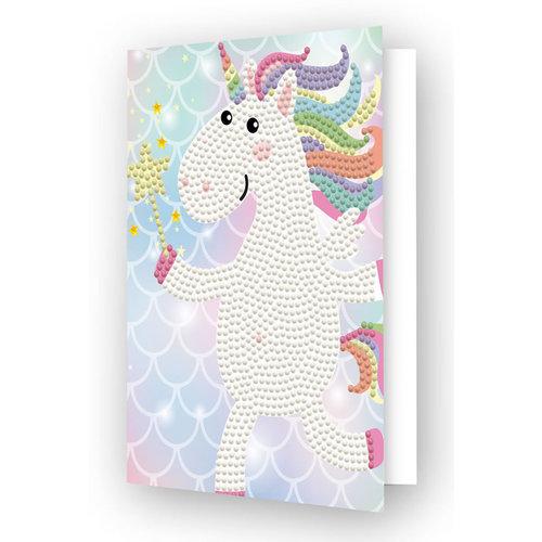 Diamond Dotz Diamond Painting Kaart Unicorn