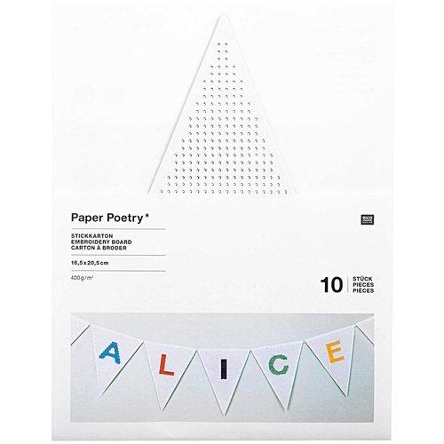 Rico Design Borduurkaarten voor vlaggenlijn 10 stuks