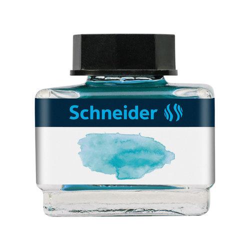 Schneider Inktpotje Schneider 15ml bermudablauw zowel vulpen als rollerball