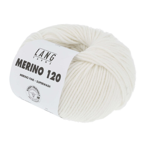 Lang Yarns Lang Yarns Merino 120 50 gram wit nr 1