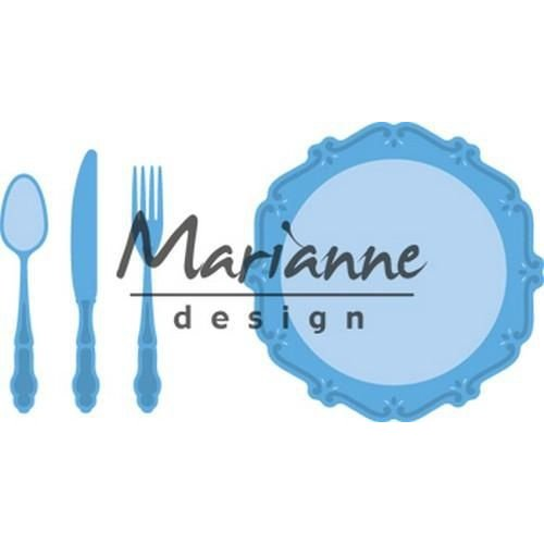 Marianne Design Marianne D Creatable Diner set LR0566 60x60mm - 6x52,5mm