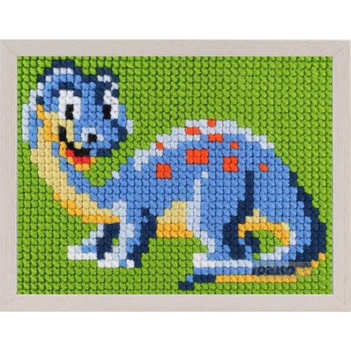 Pako Borduurpakket dinosaurus voor kinderen, voorbedrukt