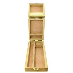 Luxe Houten Penselendoos met klapdeksel 36 x 11,5 x 5 cm
