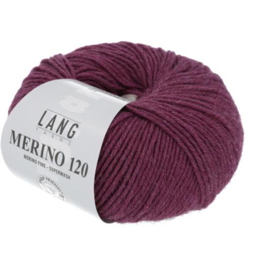 Lang Yarns Lang Yarns Merino 120 50 gram 566 Cyclaam Melange