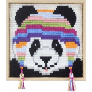 Pako Borduurpakket voor kinderen korte platsteek panda