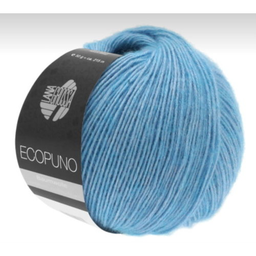 Lana Grossa Lana Grossa Ecopuno Ecru 50 gram nr 29 Turksblauw