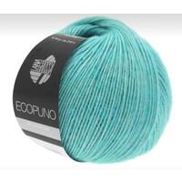 Lana Grossa Ecopuno Ecru 50 gram nr 28 Turquoise