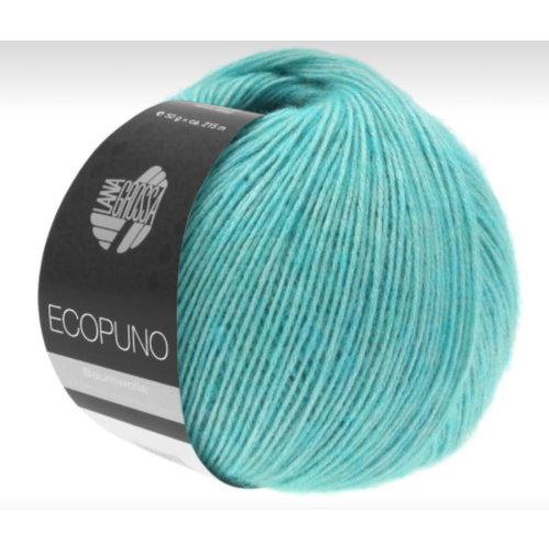 Lana Grossa Lana Grossa Ecopuno Ecru 50 gram nr 28 Turquoise